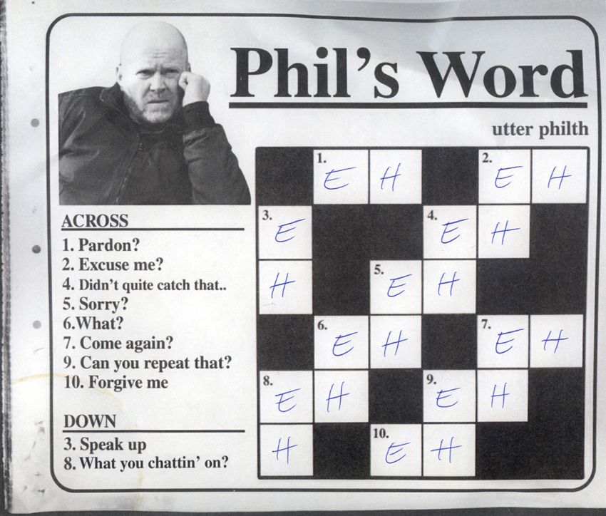 crossword utter philth phil mitchell