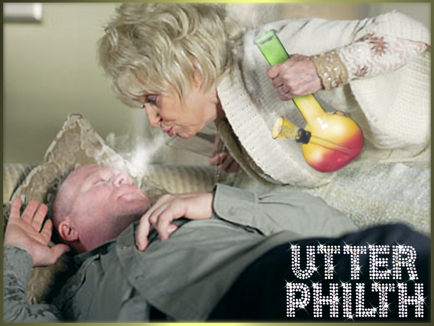peggy mitchell bong weed phil mitchell utter philth