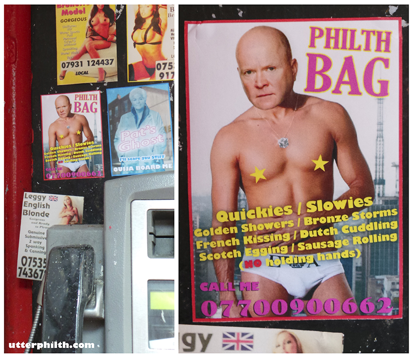 phil mitchell calling card utter philth