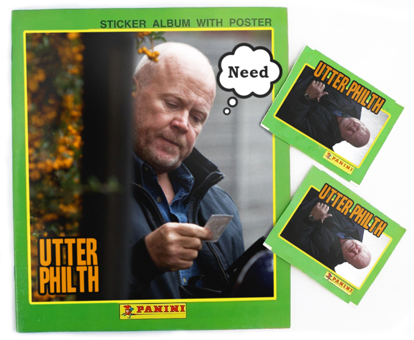 phil mitchell stickerbook